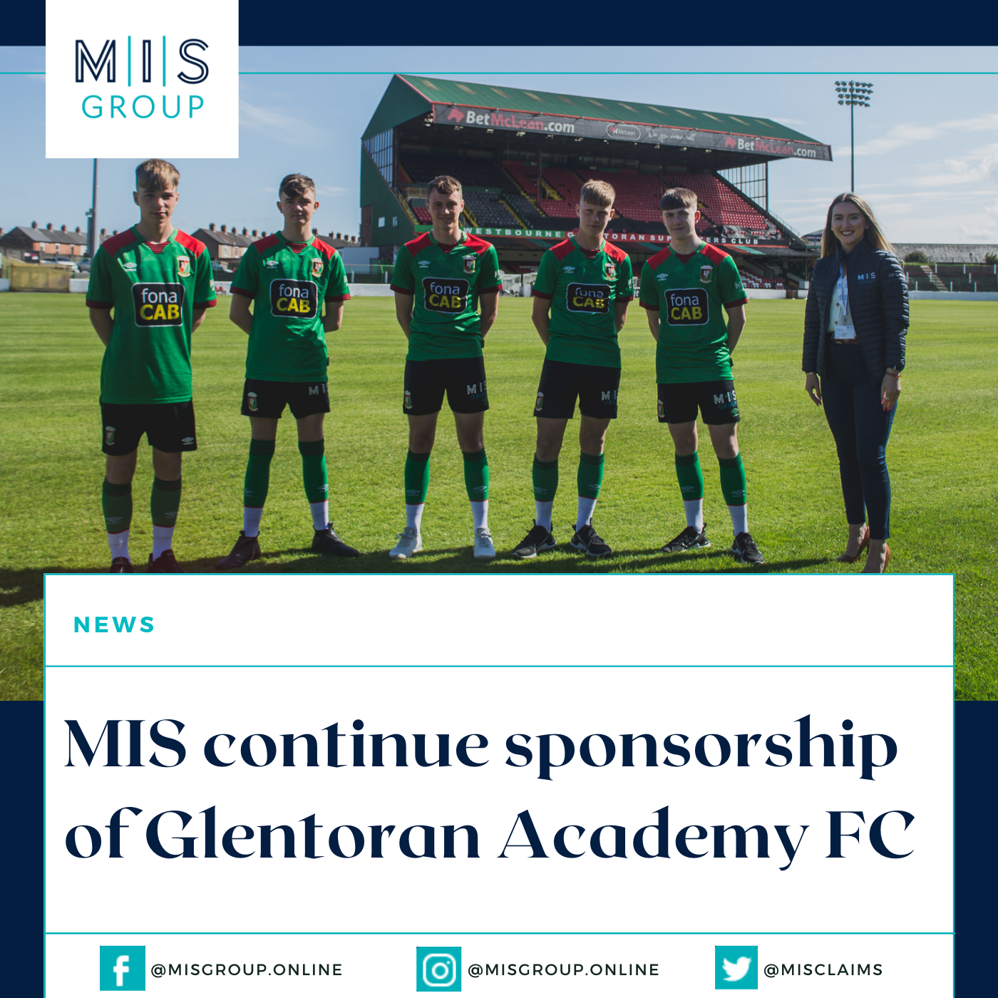 MIS continue sponsorship of Glentoran Academy FC